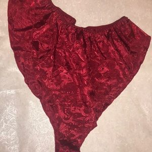 Victoria's Secret Vintage Pajama High Cut Shorts L